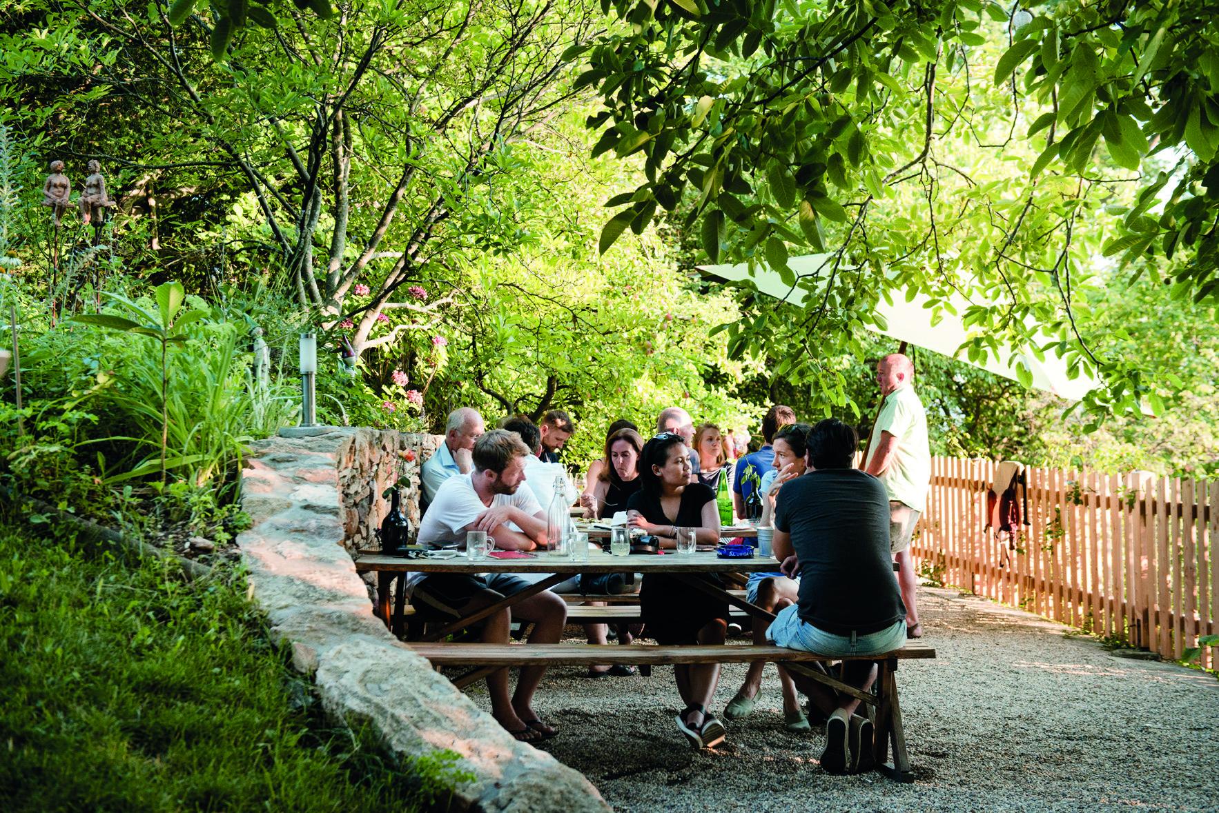 Der Garten der Buschenschank